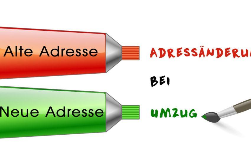 نامهنگاری به زبان آلمانی: تغییر آدرس  Adressänderung