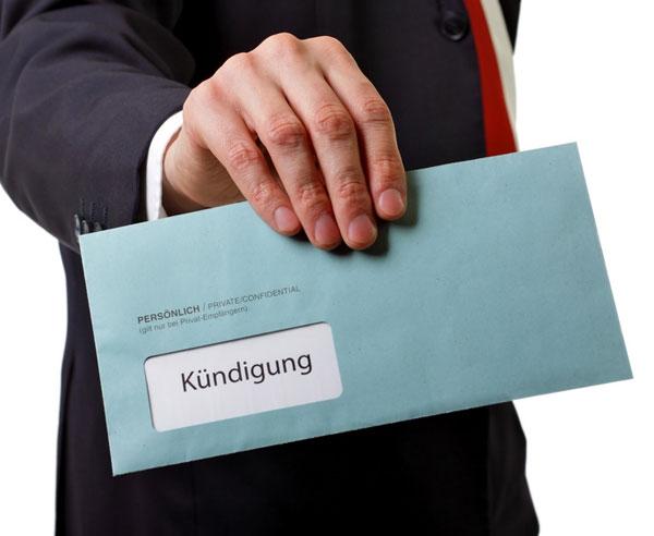 نامهنگاری به زبان آلمانی:  فسخ کردن قرارداد Kündigung